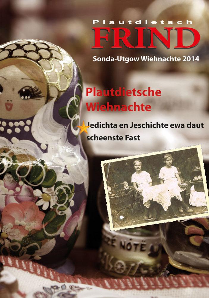 """Titelsied von """"Wiehnachte opp Plautdietsch""""."""