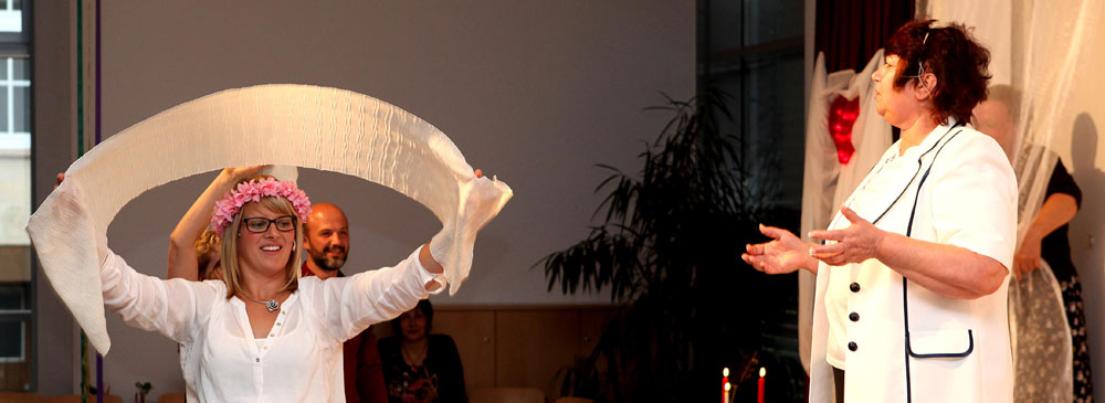 Soo aus hia woat Tatjana Klassner den Kultuaowent leide. © Horst Martens